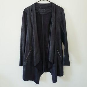 NWOT Zara Drape Front Long Blazer